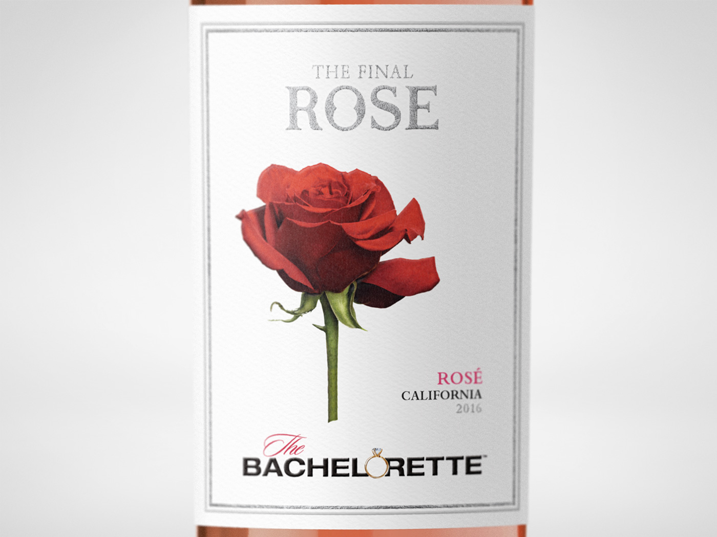 Bachelor Wines - The Final Rose Label