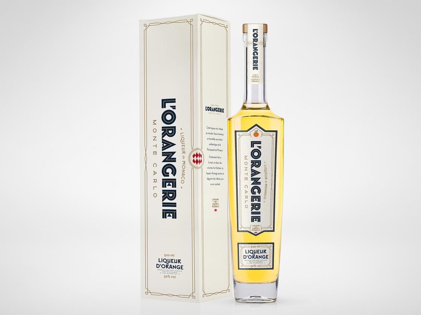 L'Orangerie Monte Carlo Orange Liqueur Bottle and Box