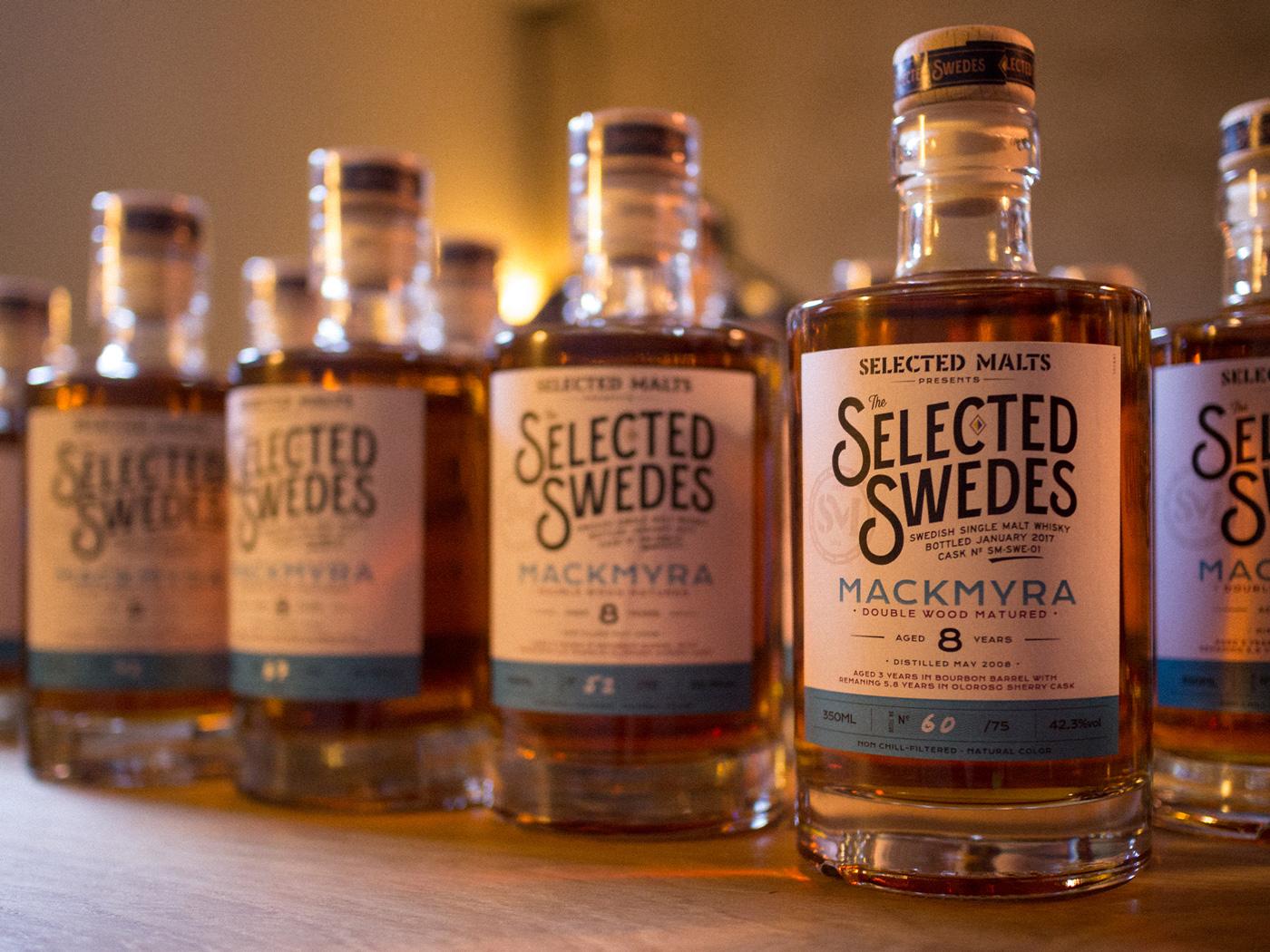 Selected Malts Selected Swedes Mackmyra Bottles Lineup