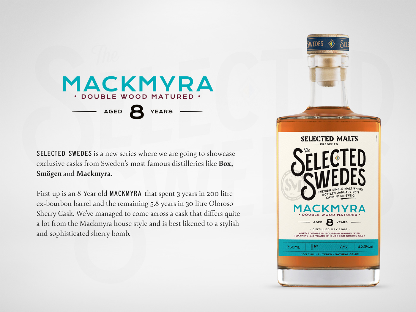 Selected Malts Selected Swedes Mackmyra Card
