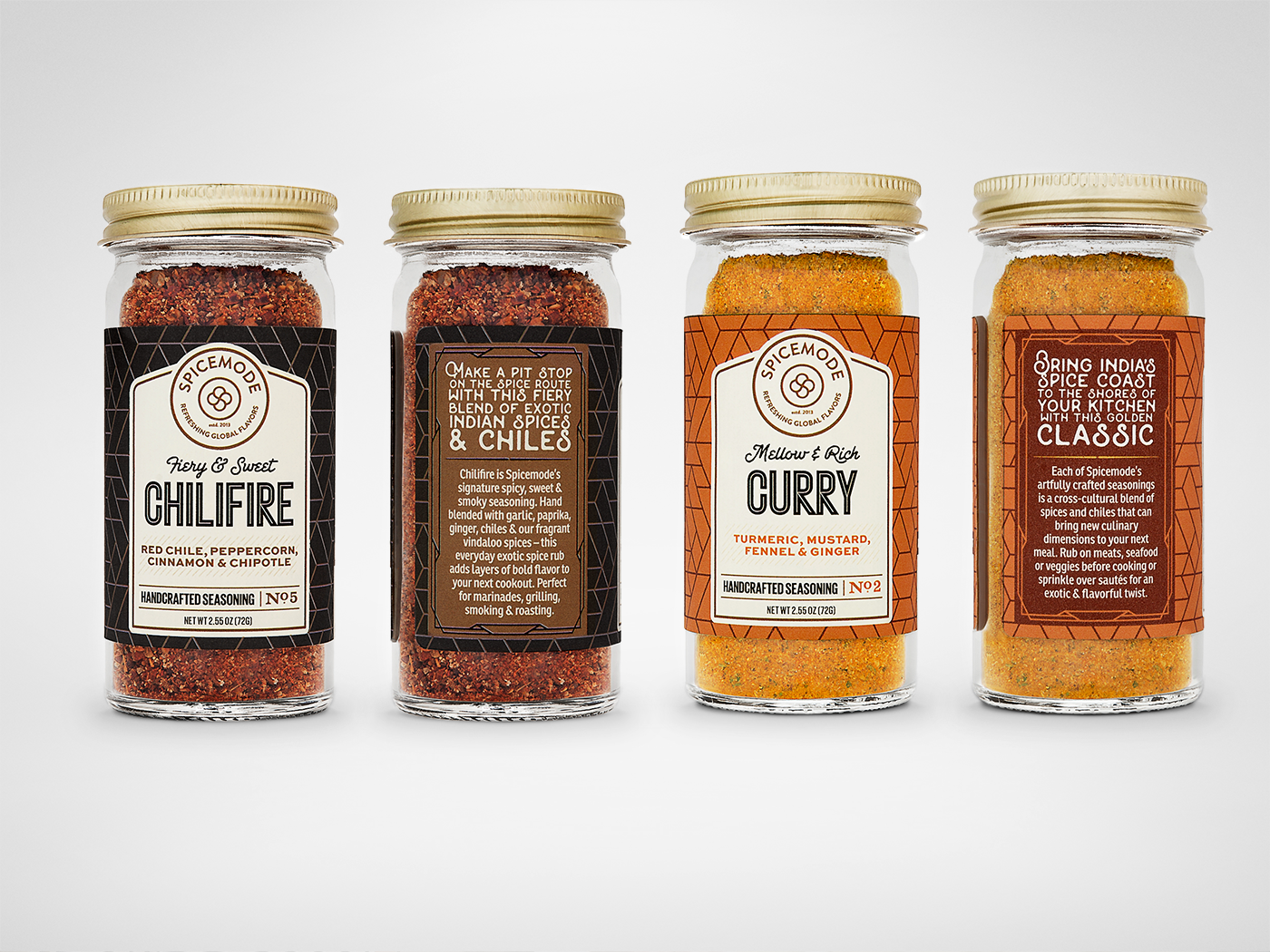 Spicemode - The Seasoning Collection - Spicejar Chilifire, Curry
