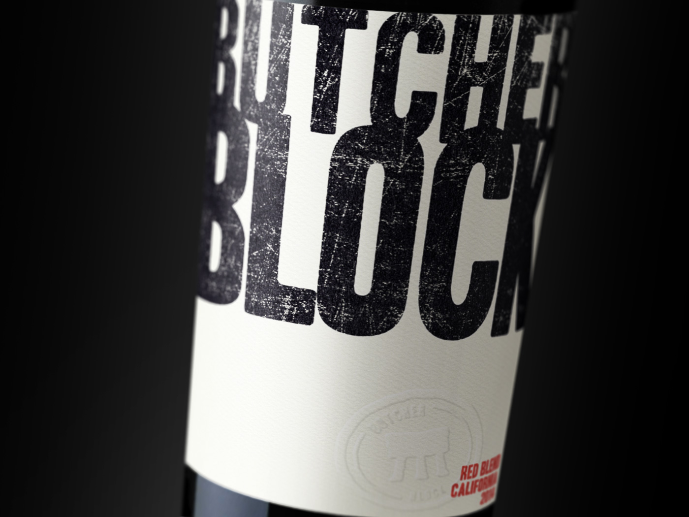 Butcher Block 2014 Red Blend Label