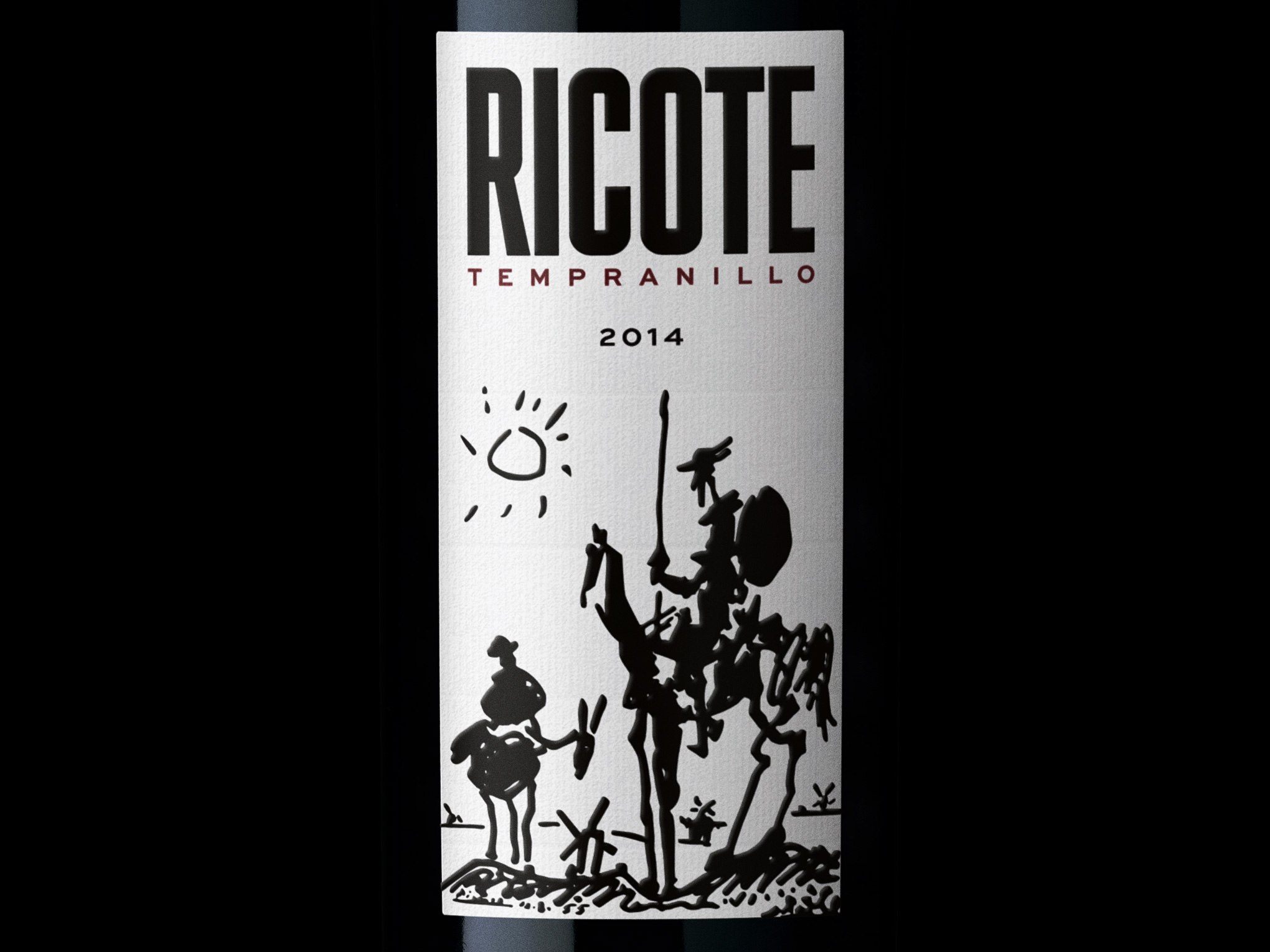 Ricote Tempranillo Wine Label Design Bottleshot Closeup Grape Collective