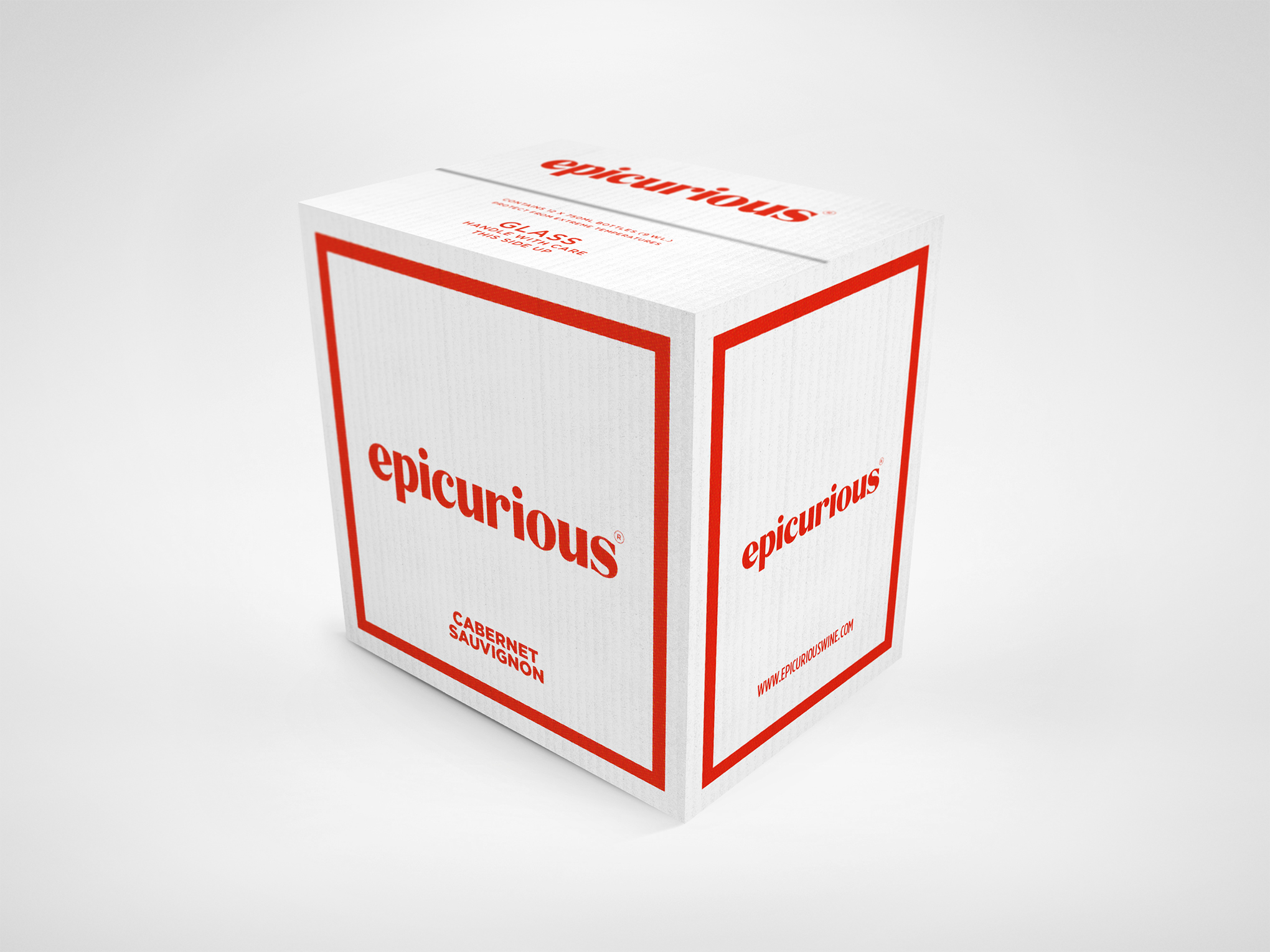Epicurious Wine Carton White