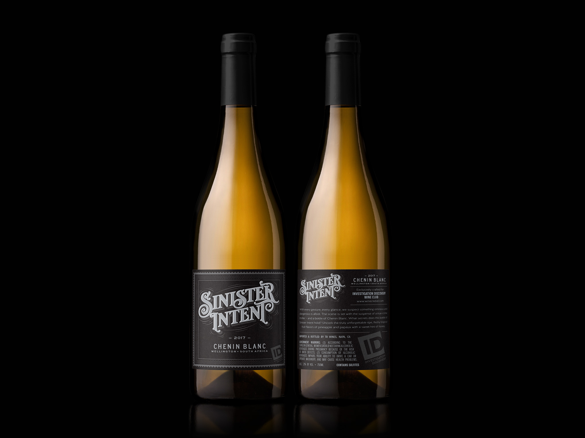 Sinister Intent Chenin Blanc Front & Back