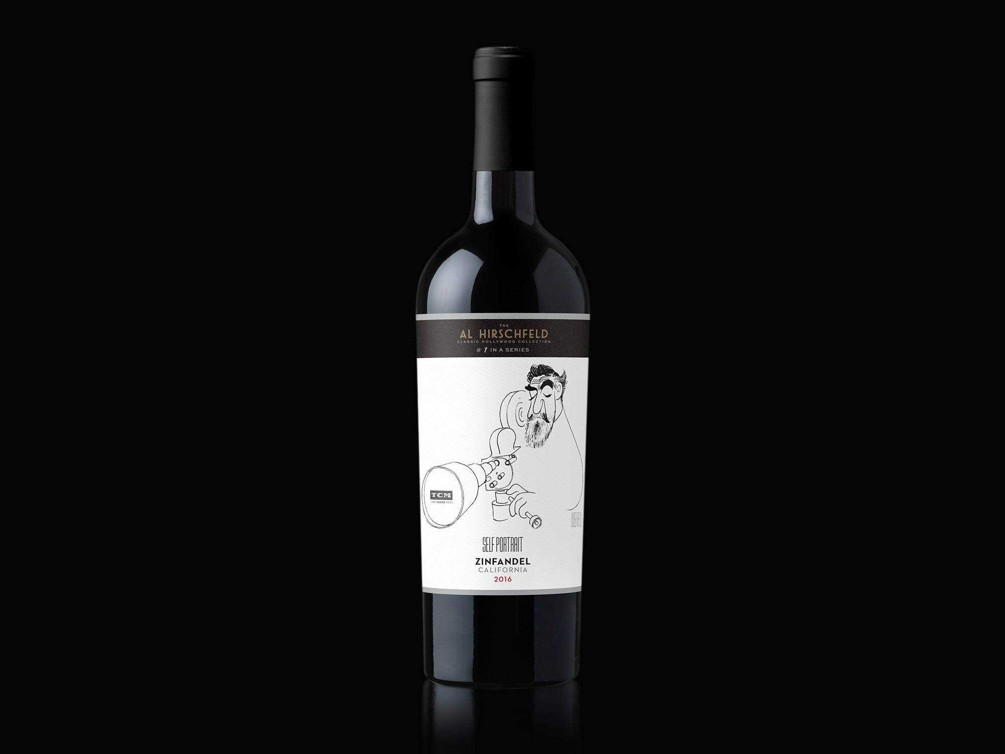 Al Hirschfeld Self Portrait Wine Label