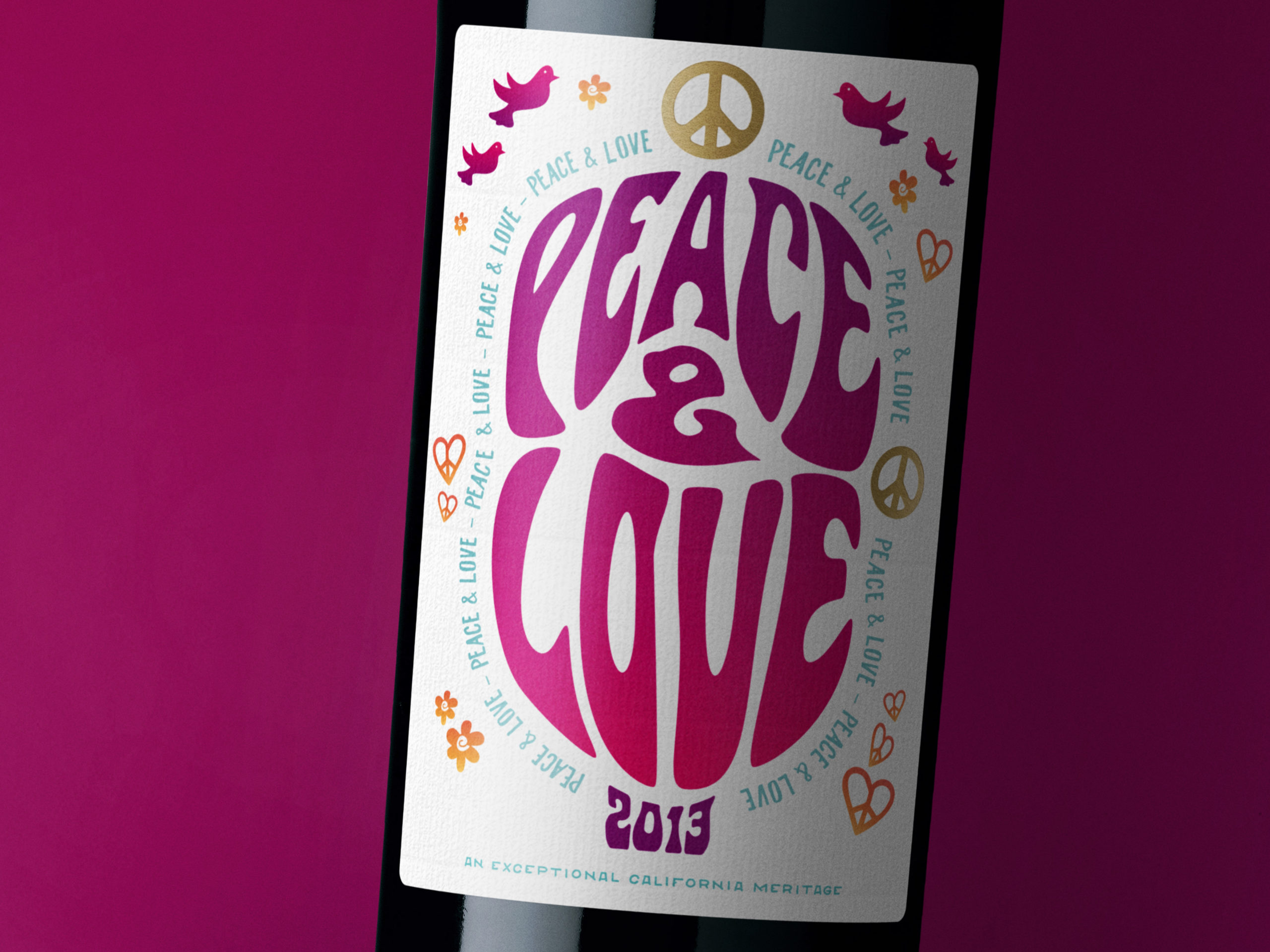 Peace & Love Meritage Wine Closeup